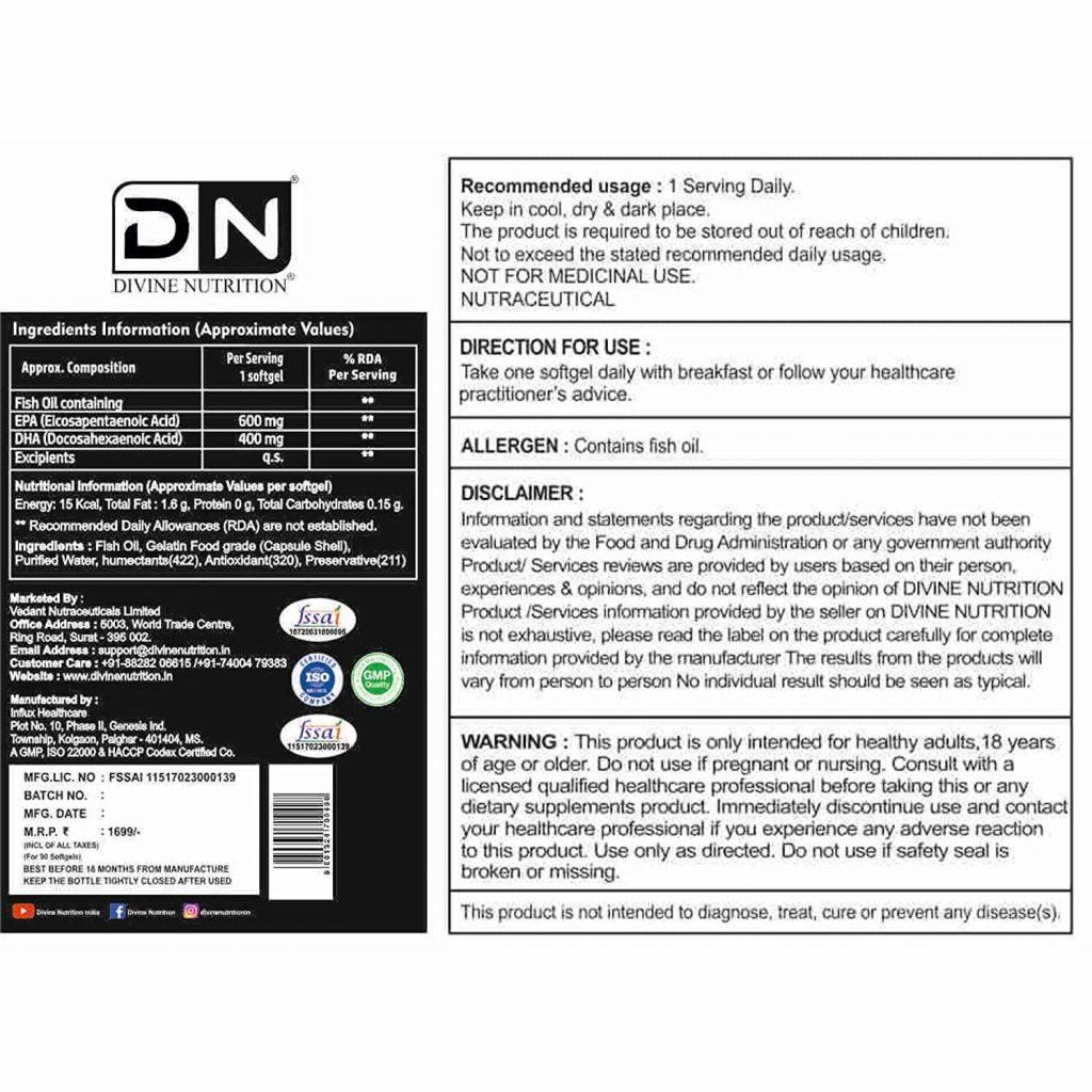 Triplex Fish Oil Specifications