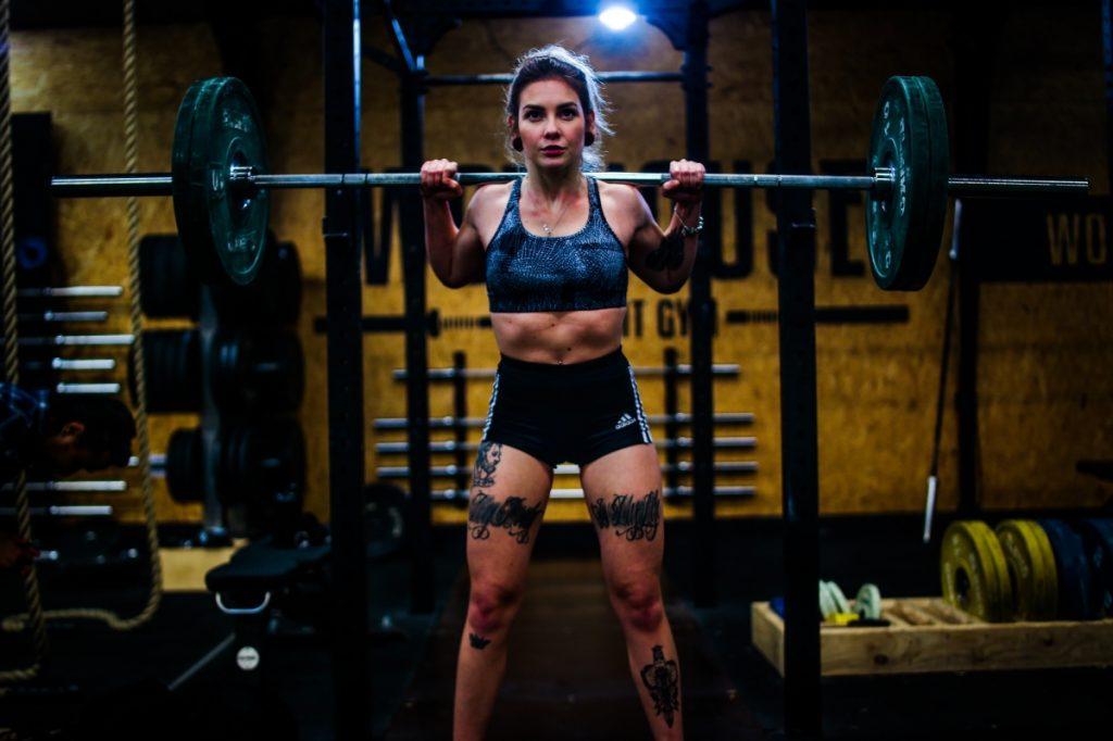 woman bulking up